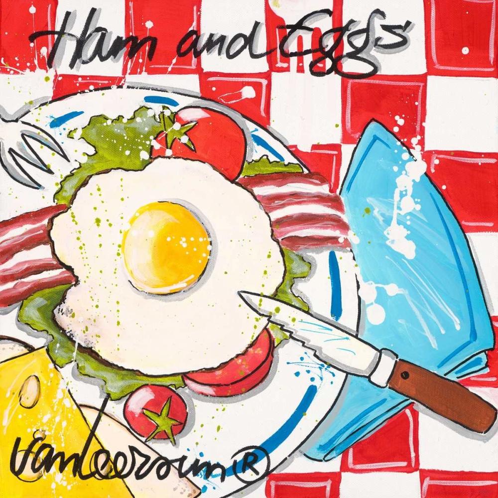 konfigurieren des Kunstdrucks in Wunschgröße Ham and eggs von van Leersum, El