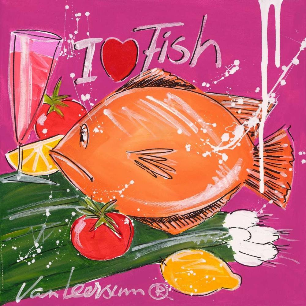 konfigurieren des Kunstdrucks in Wunschgröße I love fish von van Leersum, El