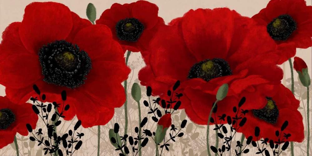 konfigurieren des Kunstdrucks in Wunschgröße Red poppy von Linda, Wood