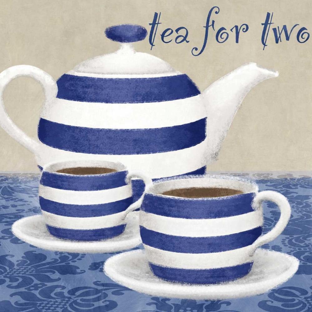 konfigurieren des Kunstdrucks in Wunschgröße Tea for two von Linda, Wood