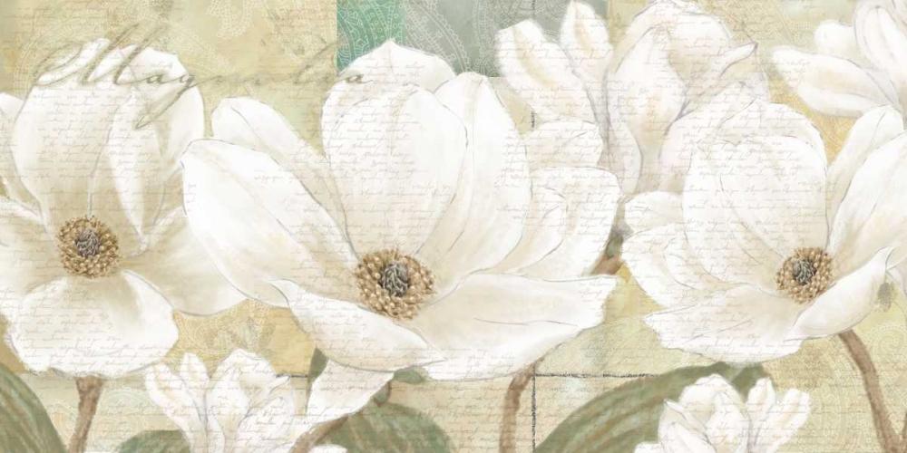 konfigurieren des Kunstdrucks in Wunschgröße Magnolia von Linda, Wood