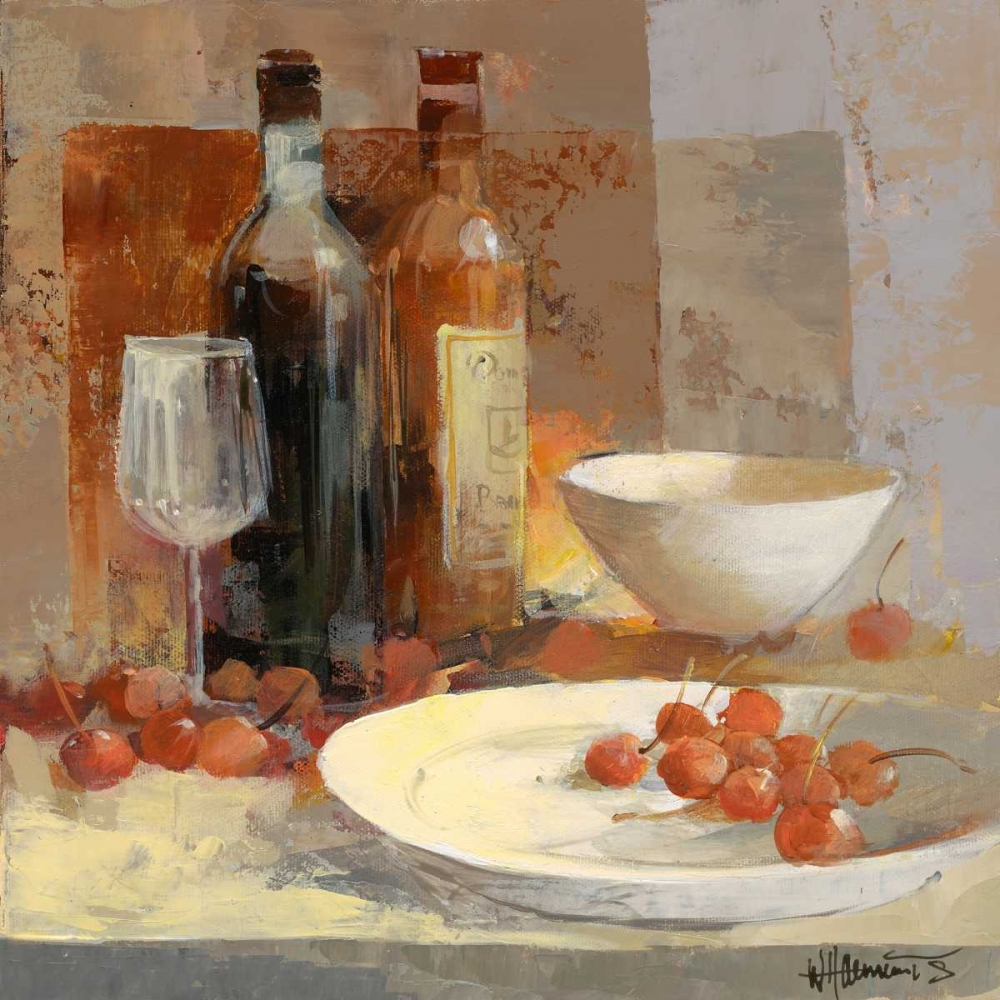 wine,italian,bottle,drinking,softcolour,European,Kitchen,Still-Life,Contemporary,Decorative,GA01_16768,A good taste IV,Haenraets, Willem,Square