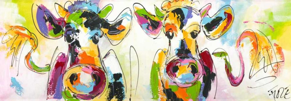 konfigurieren des Kunstdrucks in Wunschgröße Cows talking von Fiore, Art