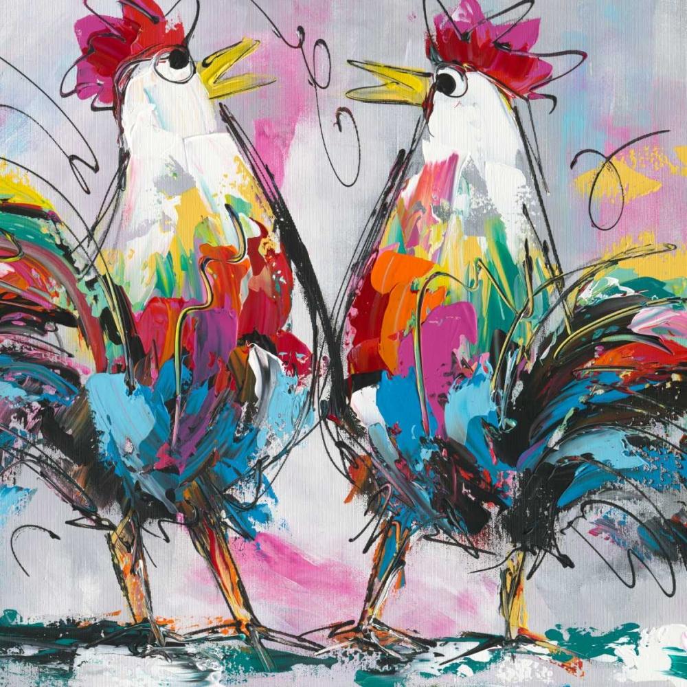 konfigurieren des Kunstdrucks in Wunschgröße Lets talk about chicken von Fiore, Art