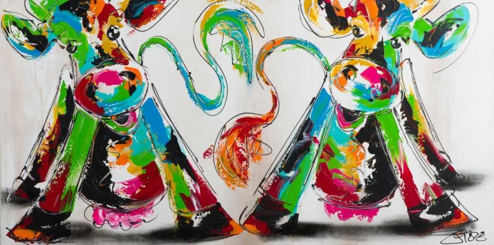 konfigurieren des Kunstdrucks in Wunschgröße Happy cows I von Fiore, Art
