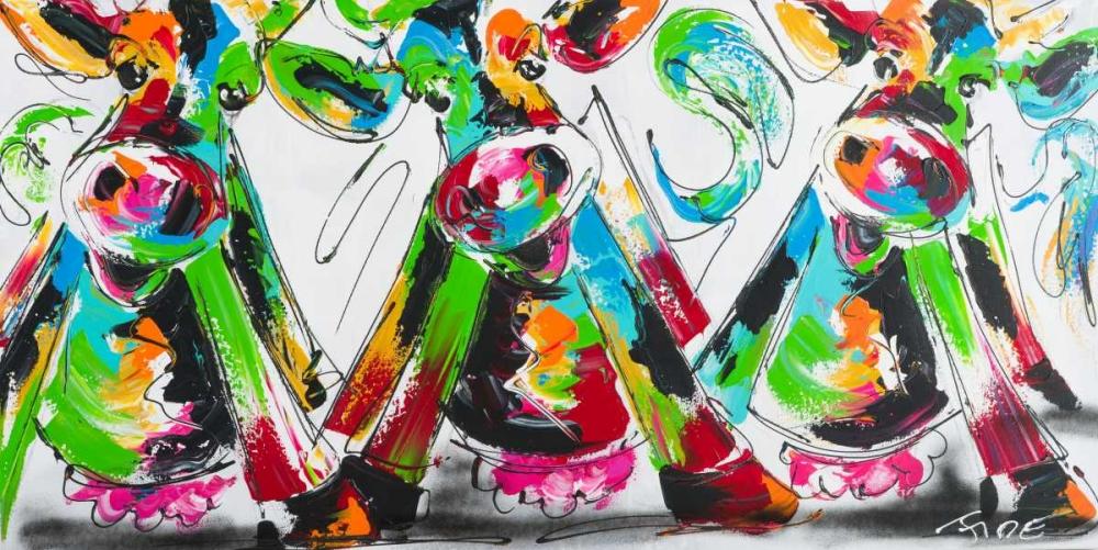konfigurieren des Kunstdrucks in Wunschgröße Happy cows II von Fiore, Art