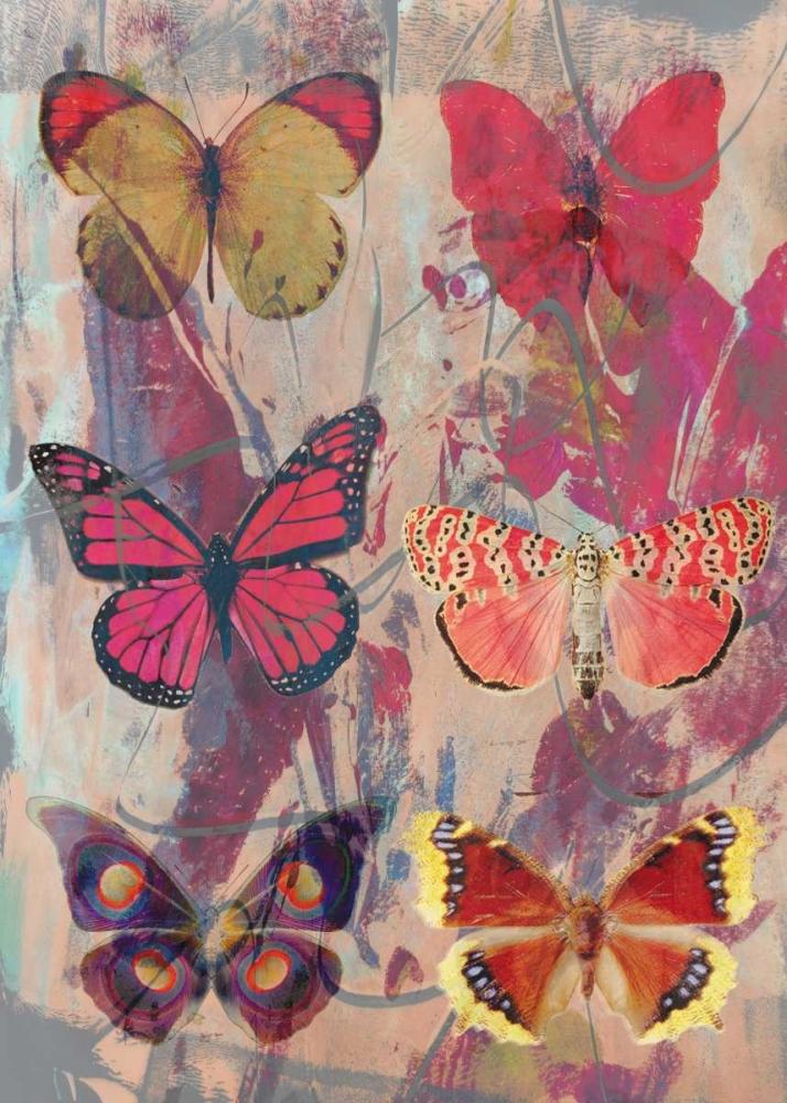 konfigurieren des Kunstdrucks in Wunschgröße Butterflies lila von Waltz, Anne
