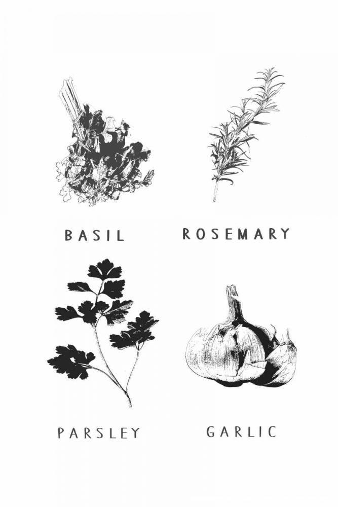 konfigurieren des Kunstdrucks in Wunschgröße Kitchen herbs von Waltz, Anne