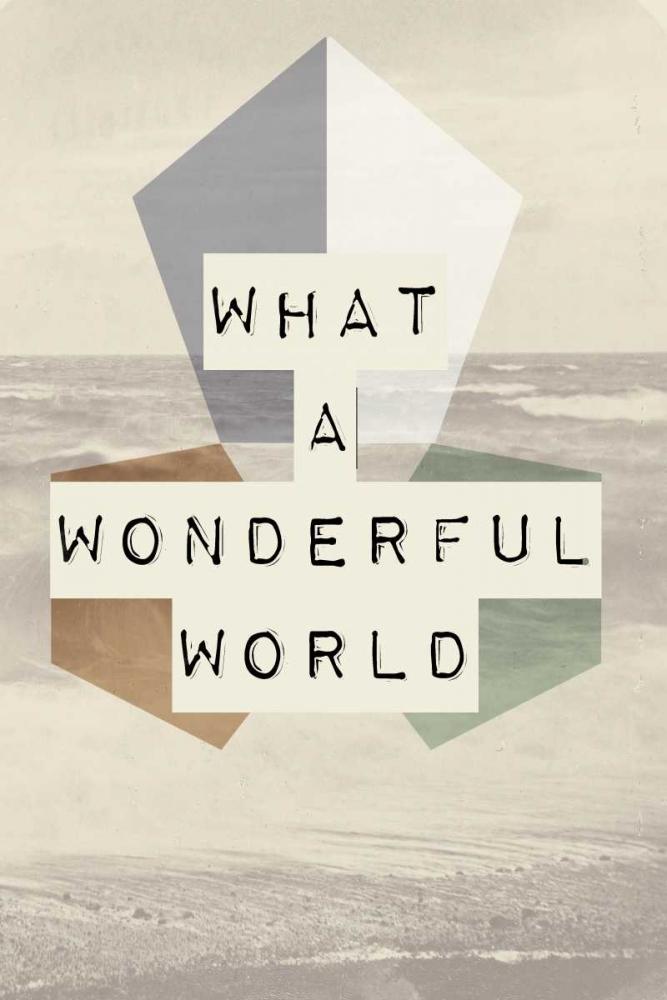 konfigurieren des Kunstdrucks in Wunschgröße wonderful world I von Waltz, Anne