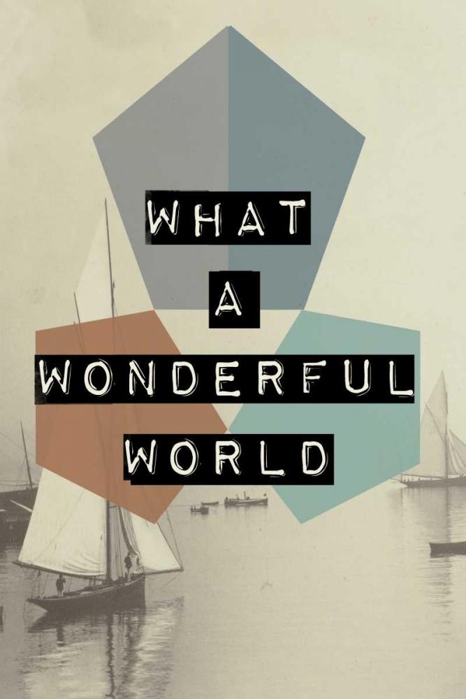 konfigurieren des Kunstdrucks in Wunschgröße wonderful world II von Waltz, Anne