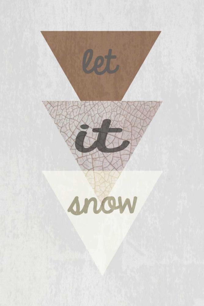 konfigurieren des Kunstdrucks in Wunschgröße Let is snow von Waltz, Anne