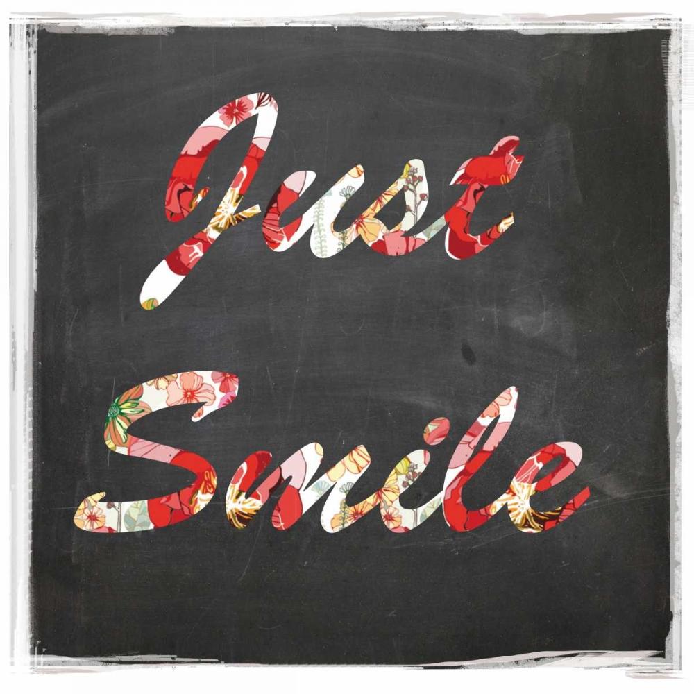 konfigurieren des Kunstdrucks in Wunschgröße Just smile von Waltz, Anne