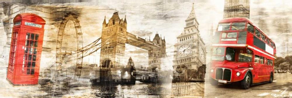 konfigurieren des Kunstdrucks in Wunschgröße Collage London 01 von Adamsky