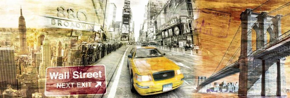 konfigurieren des Kunstdrucks in Wunschgröße New York Collage 012 von Adamsky