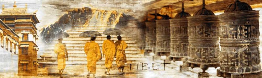 konfigurieren des Kunstdrucks in Wunschgröße Collage Tibet von Adamsky