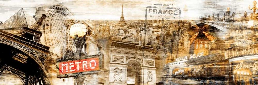 konfigurieren des Kunstdrucks in Wunschgröße Collage Paris 01 von Adamsky