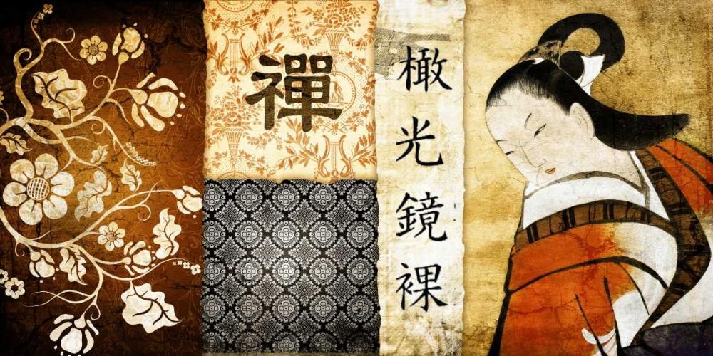 konfigurieren des Kunstdrucks in Wunschgröße Collage Asia 02 von Adamsky