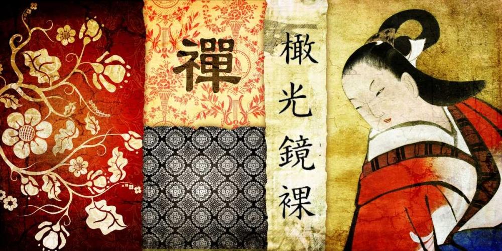konfigurieren des Kunstdrucks in Wunschgröße Collage Asia 01 von Adamsky