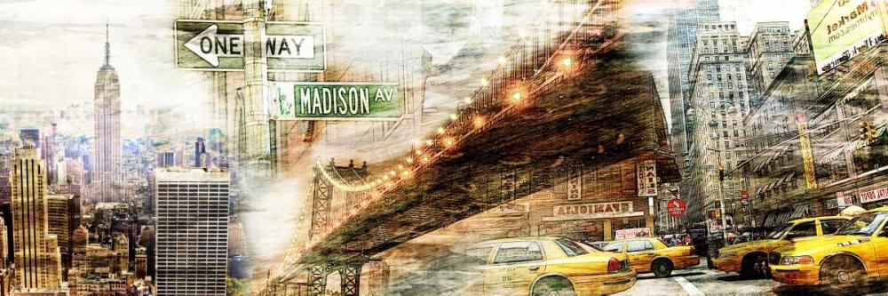 konfigurieren des Kunstdrucks in Wunschgröße New York Collage 01 von Adamsky