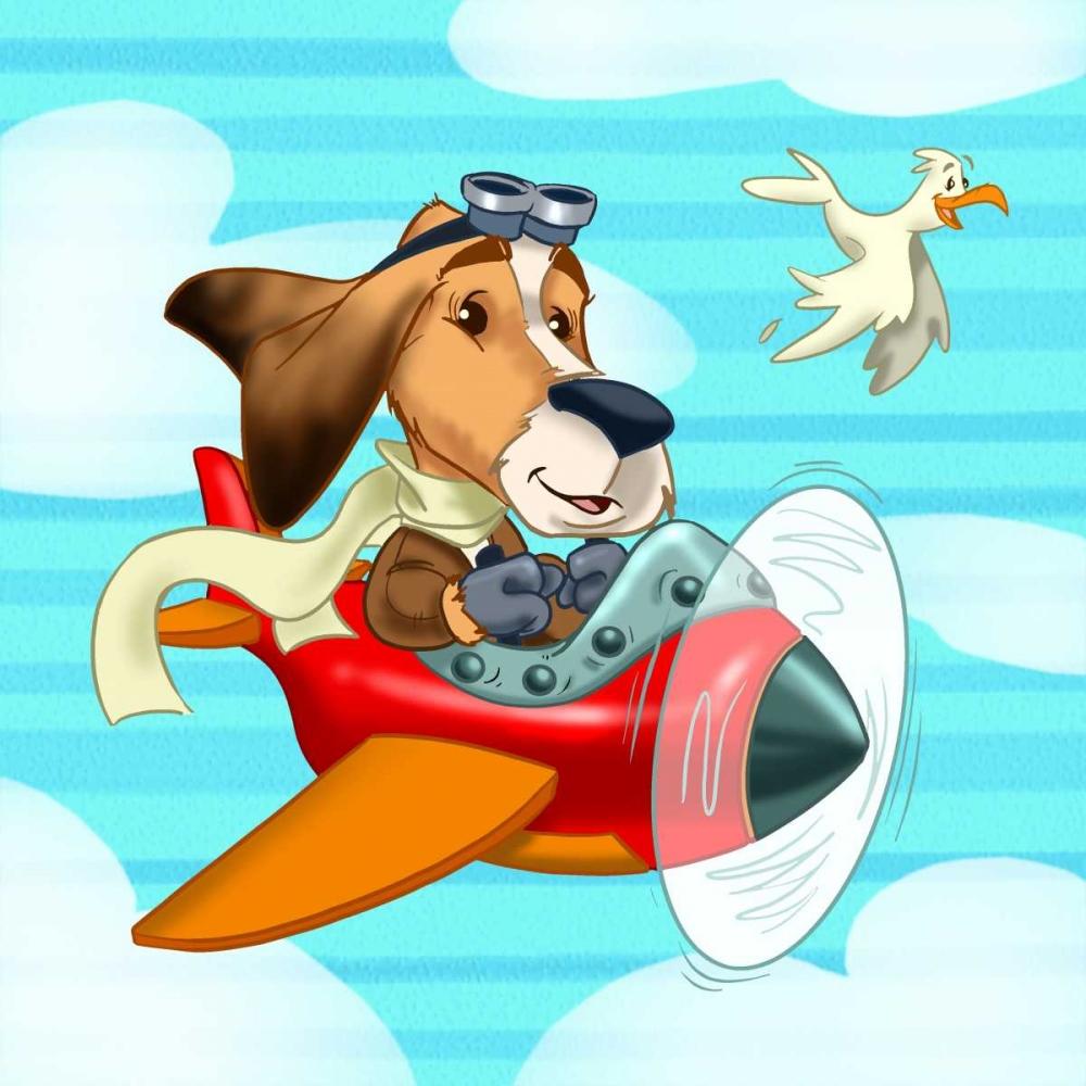 konfigurieren des Kunstdrucks in Wunschgröße The pilot puppy von Alvez, A. - Perez, A.