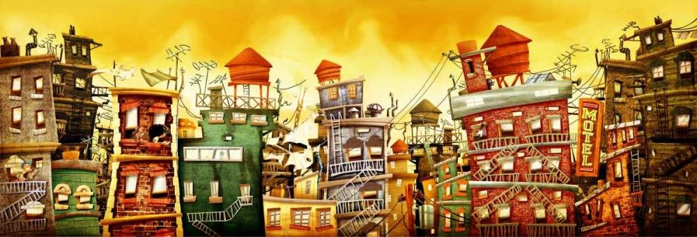 konfigurieren des Kunstdrucks in Wunschgröße The city 2 von Alvez, A. - Perez, A.