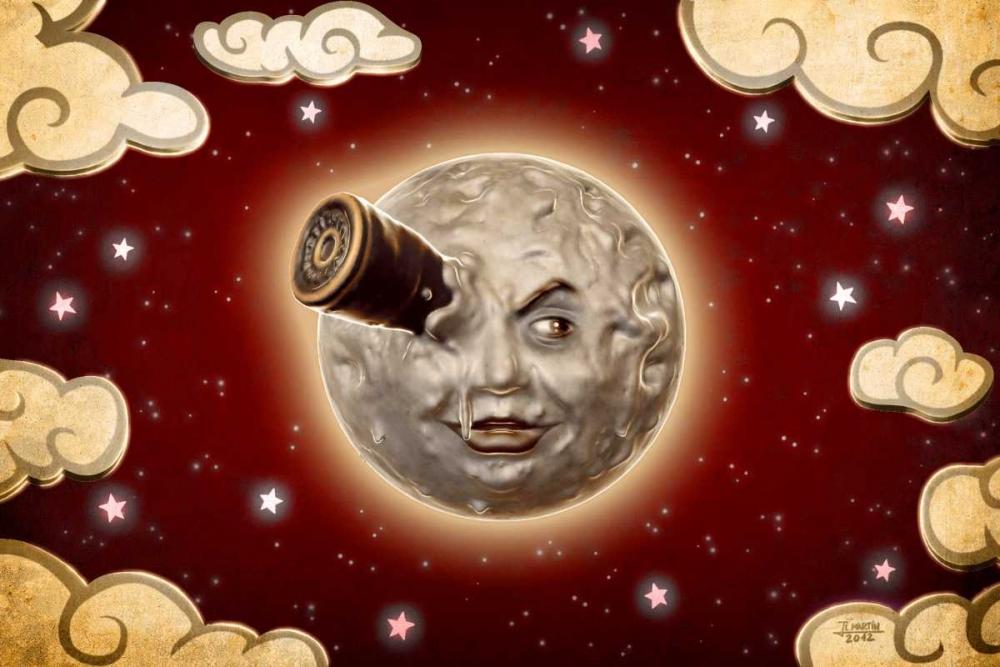 konfigurieren des Kunstdrucks in Wunschgröße A Trip to the Moon-Red von Martin, Jose Luis