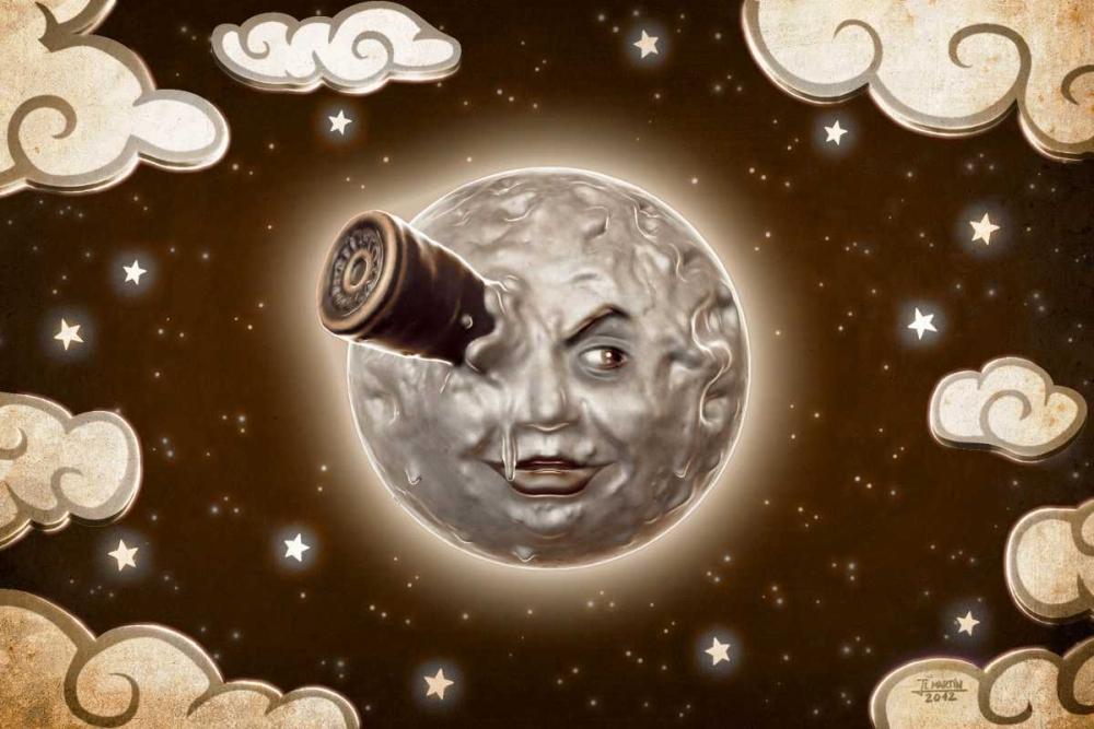 konfigurieren des Kunstdrucks in Wunschgröße A Trip to the Moon-Sepia von Martin, Jose Luis
