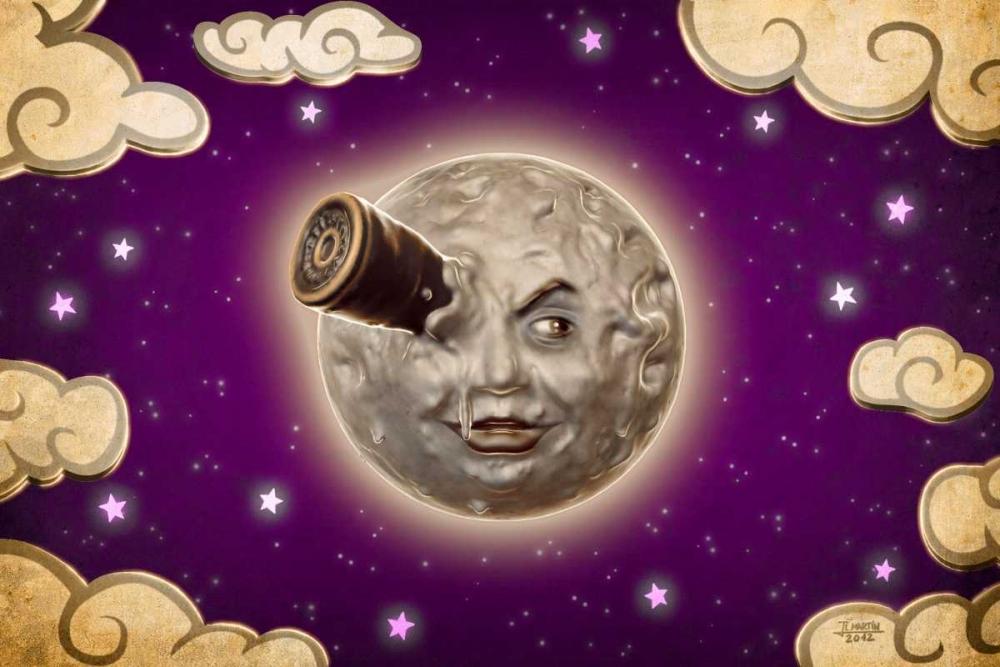 konfigurieren des Kunstdrucks in Wunschgröße A Trip to the Moon-Violet von Martin, Jose Luis