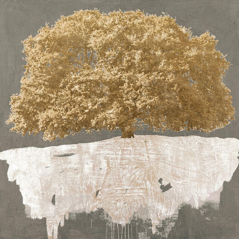 konfigurieren des Kunstdrucks in Wunschgröße Golden Tree on Grey von Aprile, Alessio