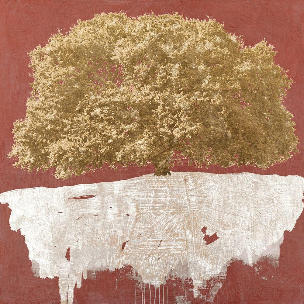 konfigurieren des Kunstdrucks in Wunschgröße Golden Tree on Red von Aprile, Alessio