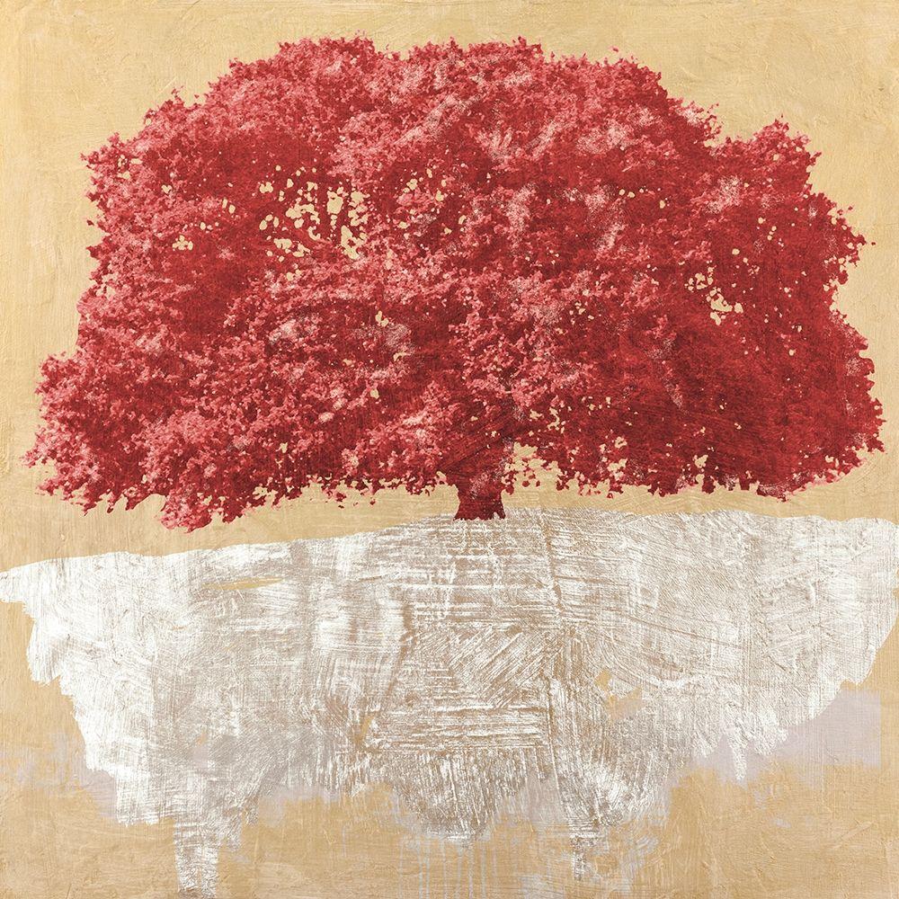 konfigurieren des Kunstdrucks in Wunschgröße Red Tree on Gold von Aprile, Alessio