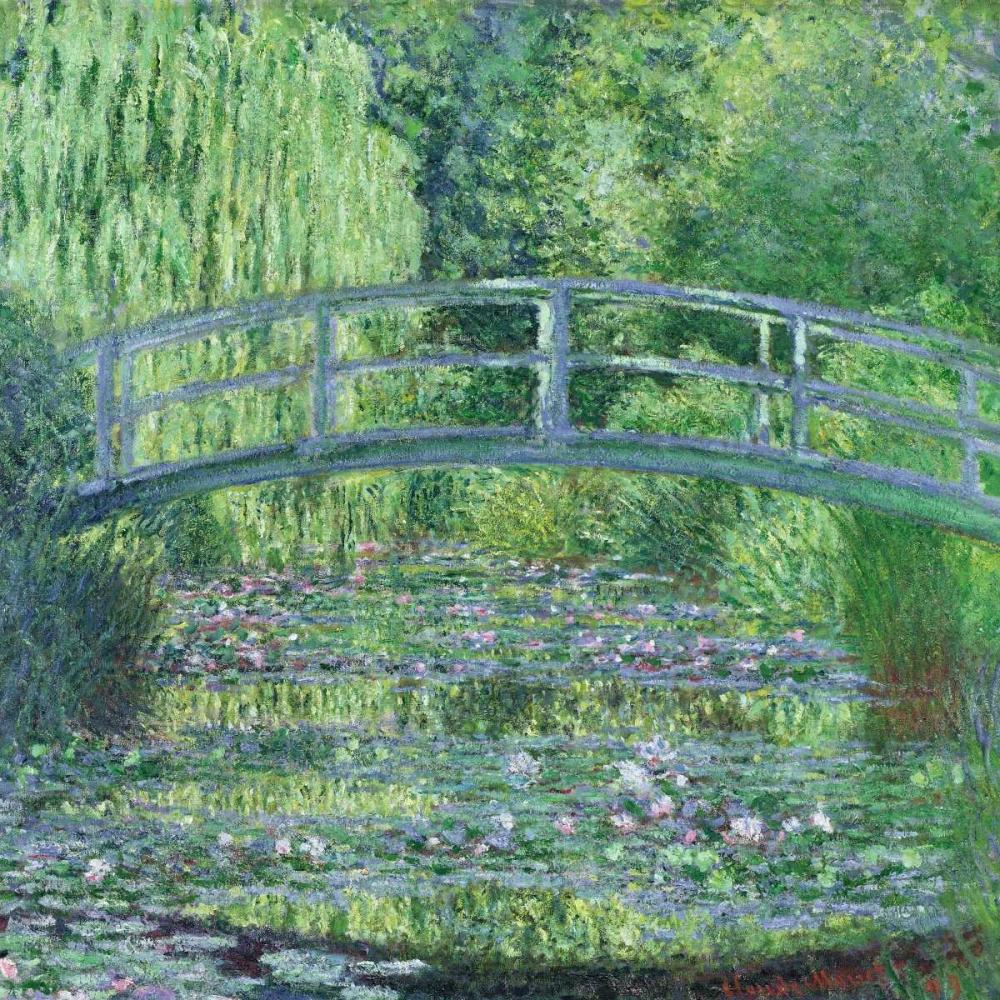 konfigurieren des Kunstdrucks in Wunschgröße The Waterlily Pond- Green Harmony von Monet, Claude