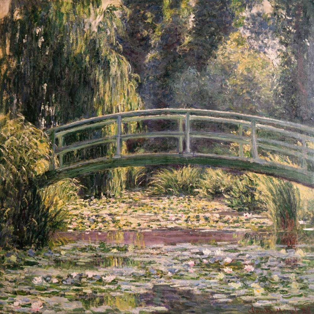 konfigurieren des Kunstdrucks in Wunschgröße The Japanese Footbridge Giverny von Monet, Claude