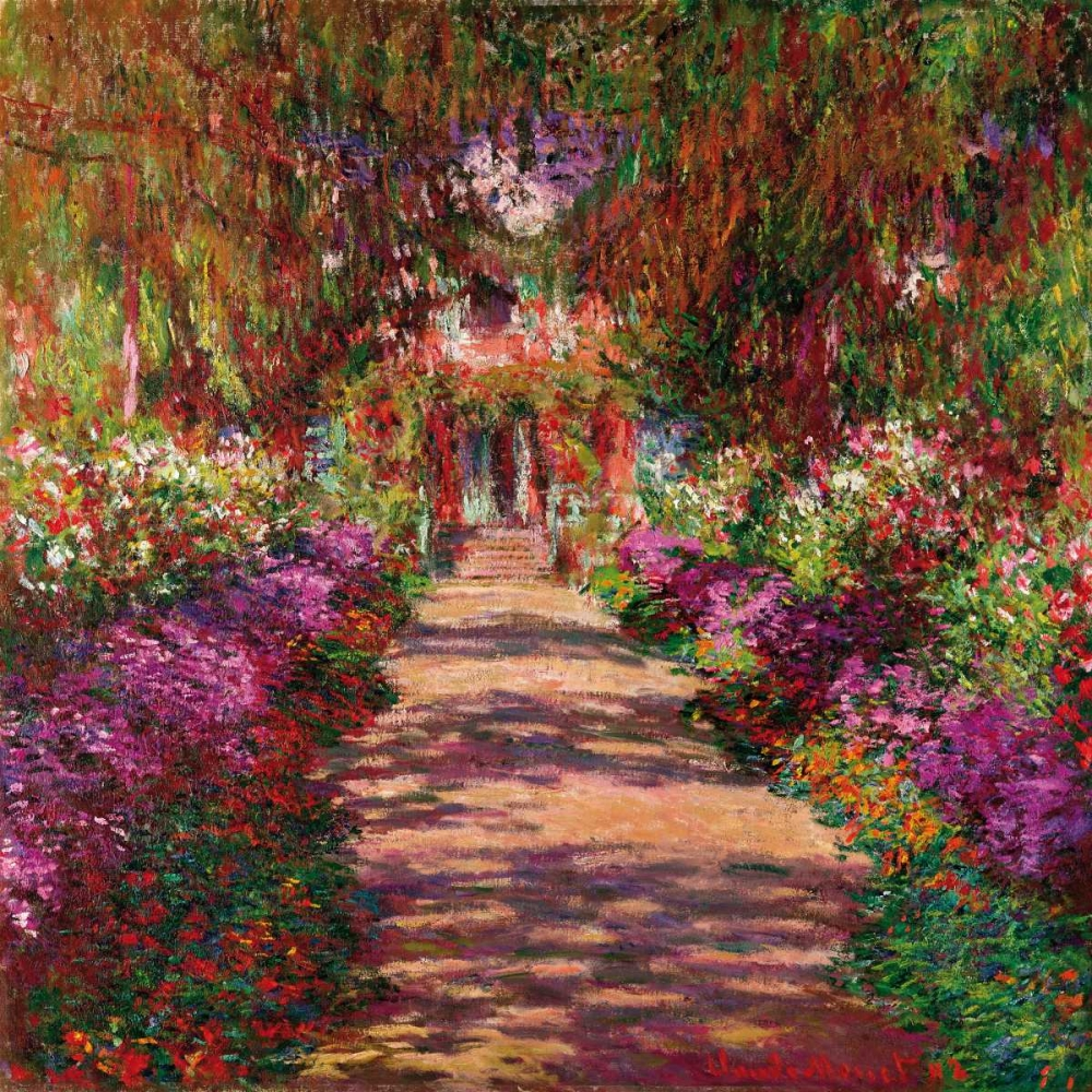 .,Landscape,Nature,,,,1CM028,Path in Monets Garden Giverny,Monet, Claude,Square