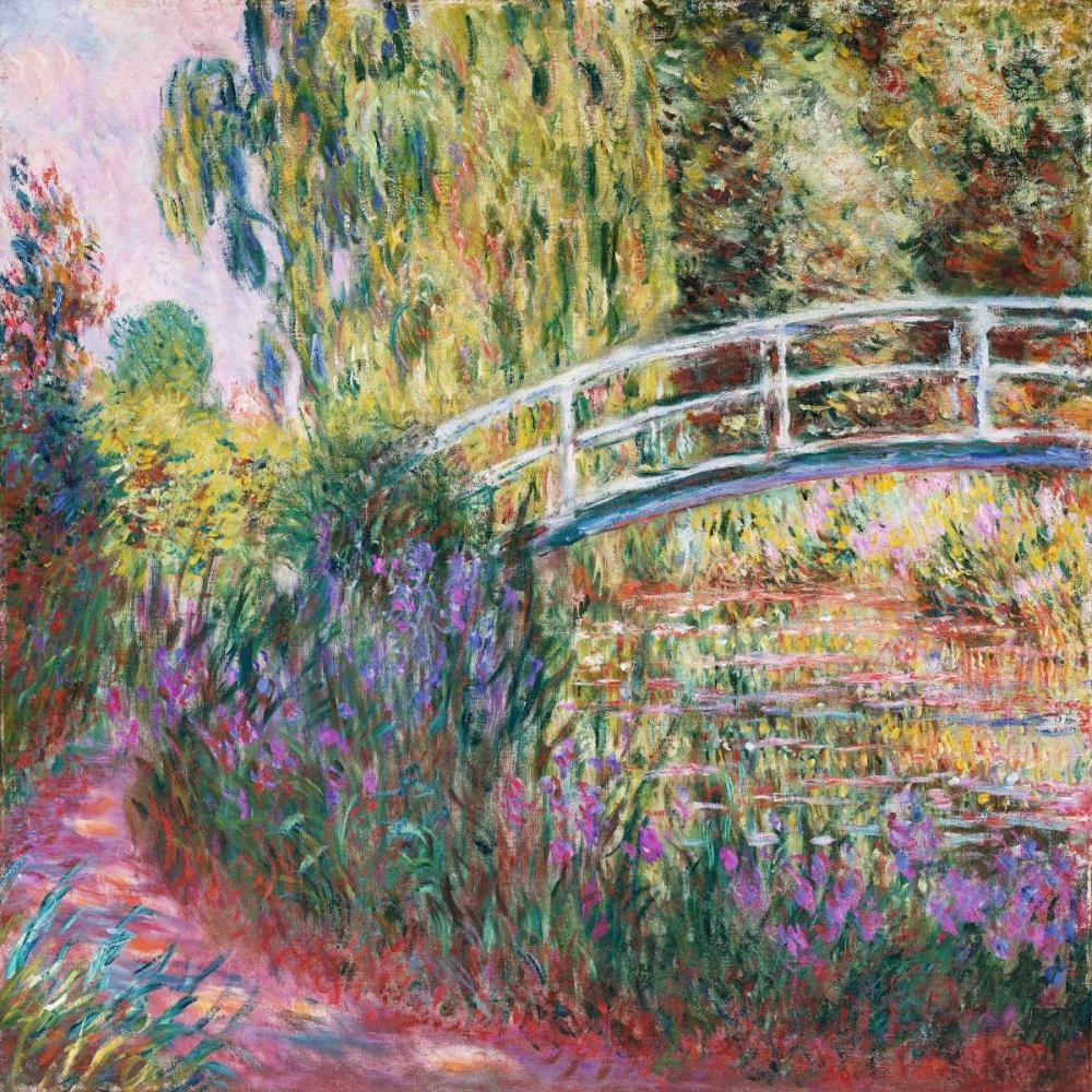 konfigurieren des Kunstdrucks in Wunschgröße The Japanese Bridge Pond with Water Lillies von Monet, Claude
