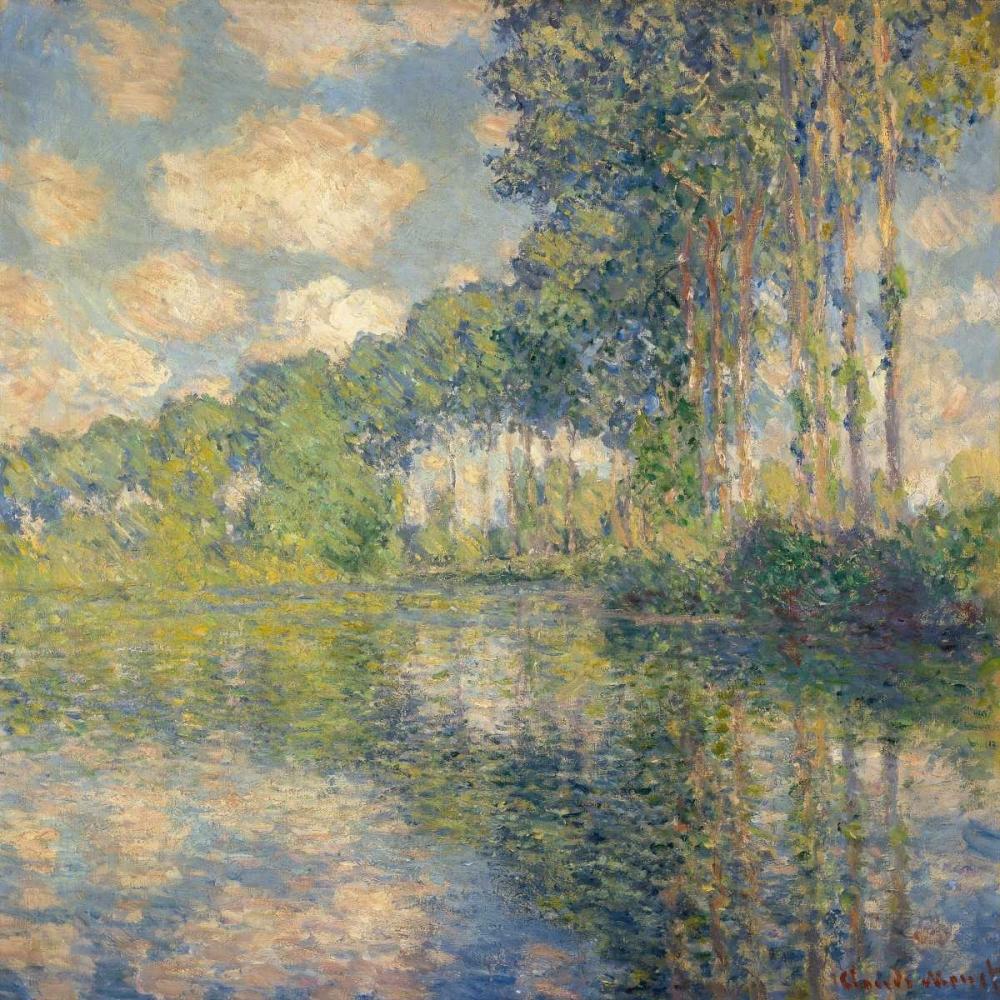 konfigurieren des Kunstdrucks in Wunschgröße Poplars on the Epte von Monet, Claude