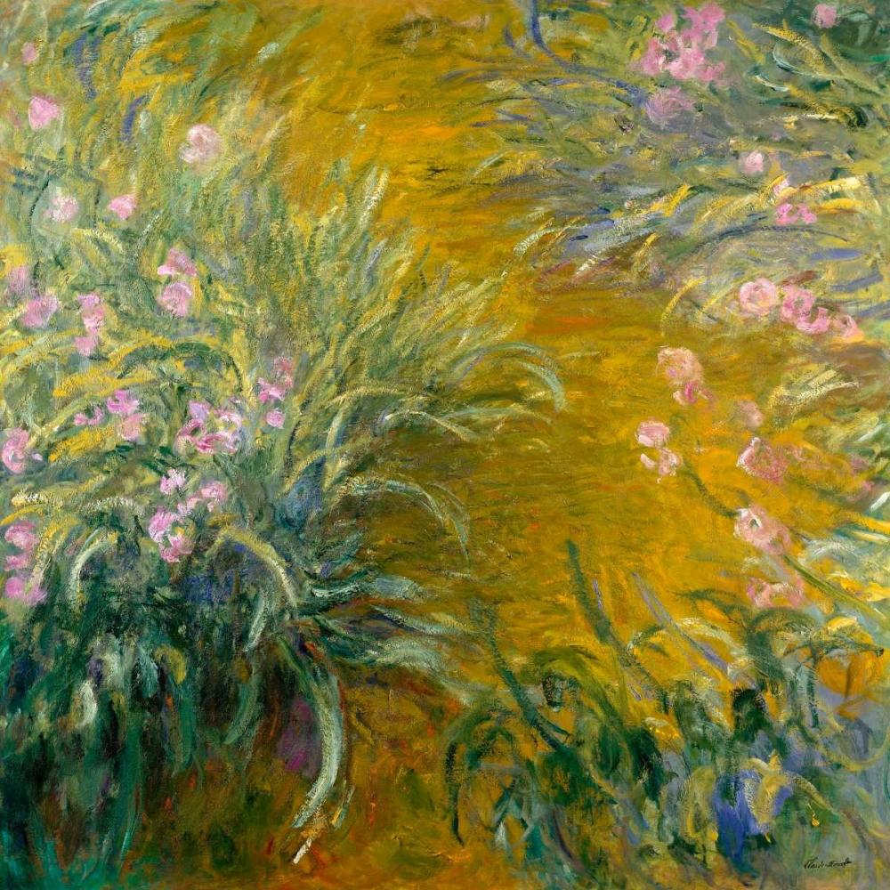 konfigurieren des Kunstdrucks in Wunschgröße The Path through the Irises von Monet, Claude