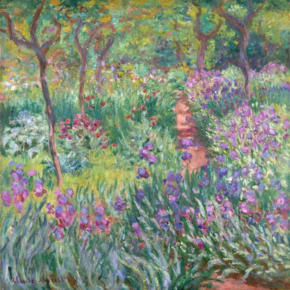 .,Floral,Landscape,,,,1CM2178,The artists garden at Giverny,Monet, Claude,Square