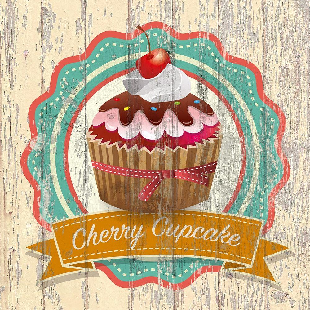 konfigurieren des Kunstdrucks in Wunschgröße Cherry Cupcake von Skip Teller