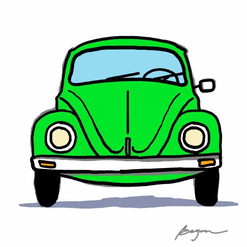 konfigurieren des Kunstdrucks in Wunschgröße Green Bug von Beyon, Carlos