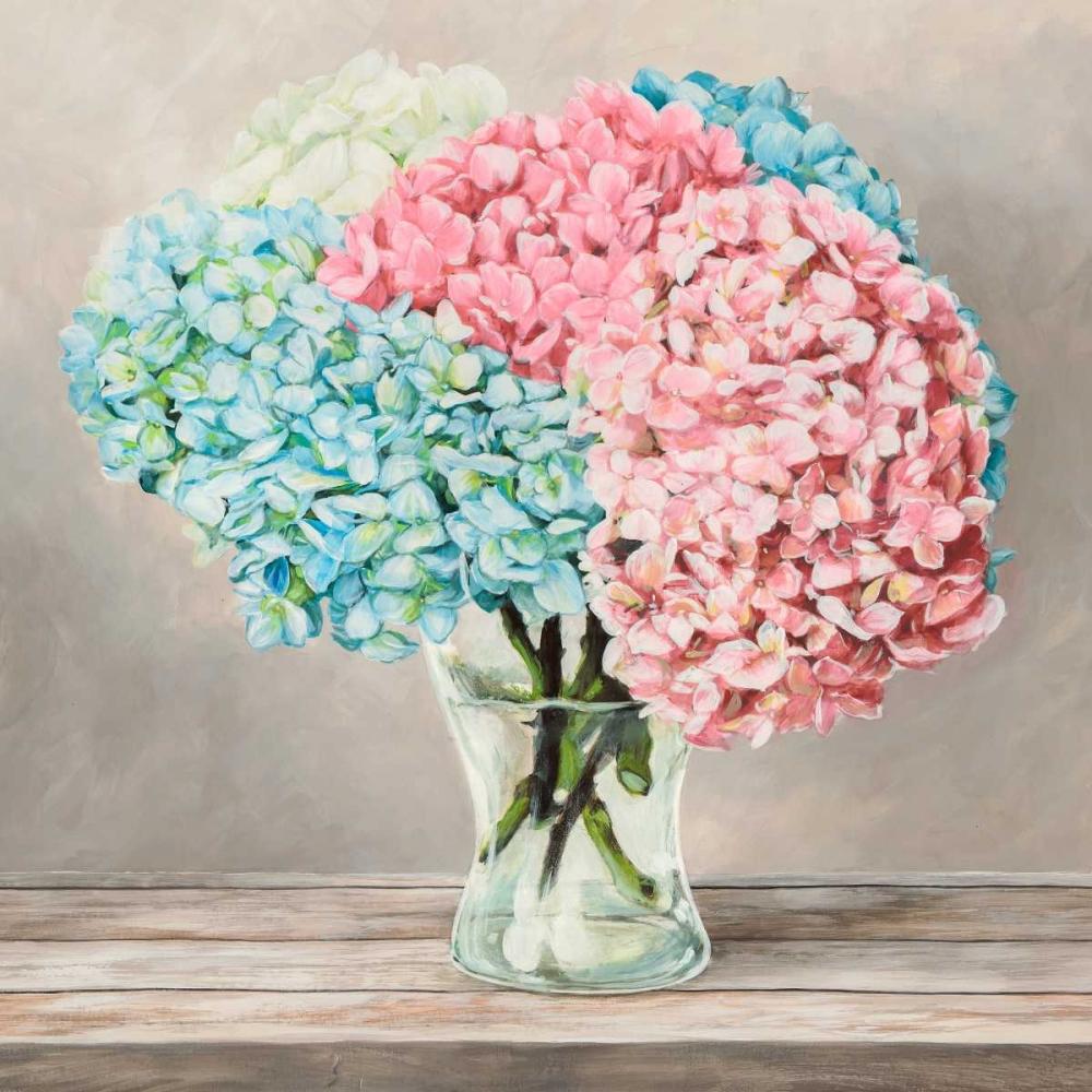 konfigurieren des Kunstdrucks in Wunschgröße Fleurs et Vases Blanc II von Dellal, Remy