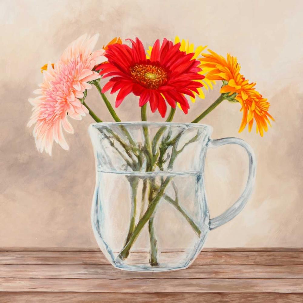 konfigurieren des Kunstdrucks in Wunschgröße Fleurs et Vases Jaune I von Dellal, Remy