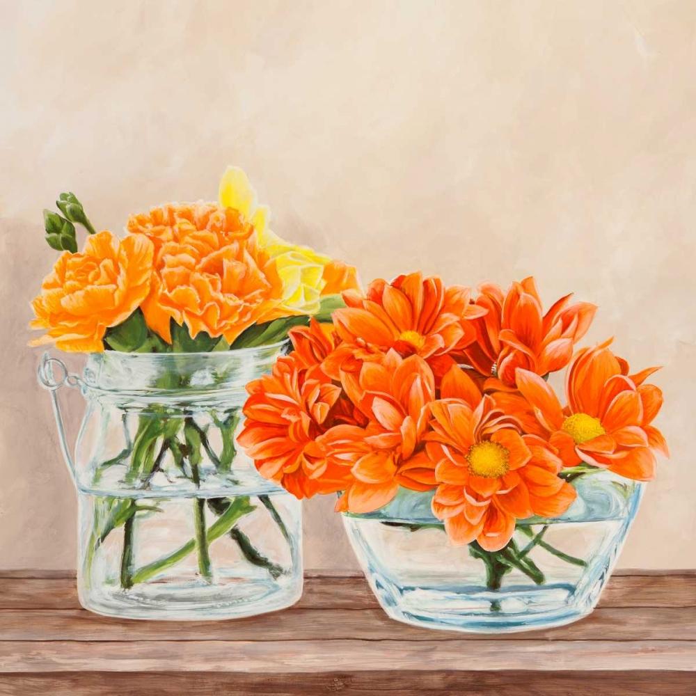 konfigurieren des Kunstdrucks in Wunschgröße Fleurs et Vases Jaune II von Dellal, Remy