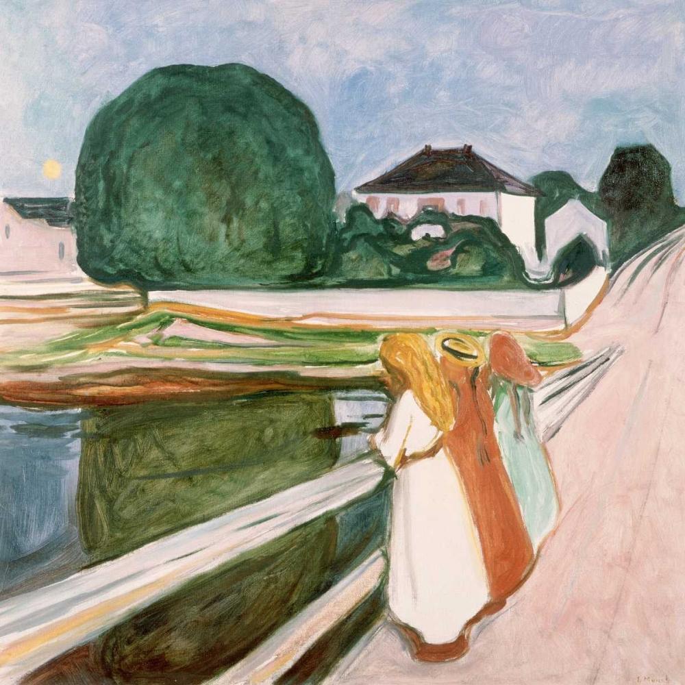 konfigurieren des Kunstdrucks in Wunschgröße White Night von Munch, Edvard