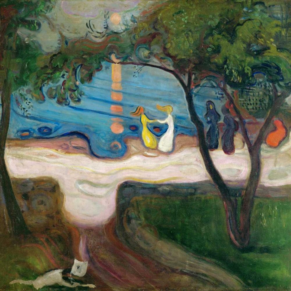 konfigurieren des Kunstdrucks in Wunschgröße Dance on the Beach von Munch, Edvard