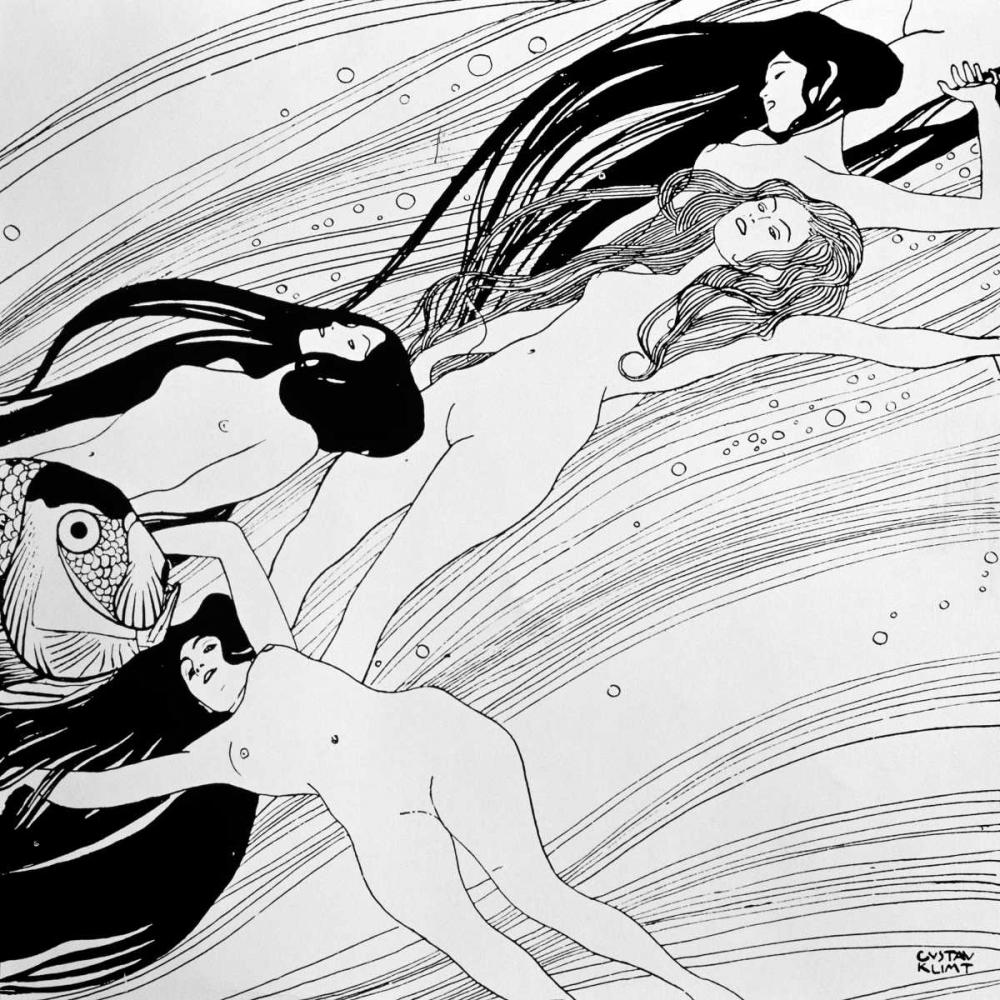 konfigurieren des Kunstdrucks in Wunschgröße Untitled von Klimt, Gustav