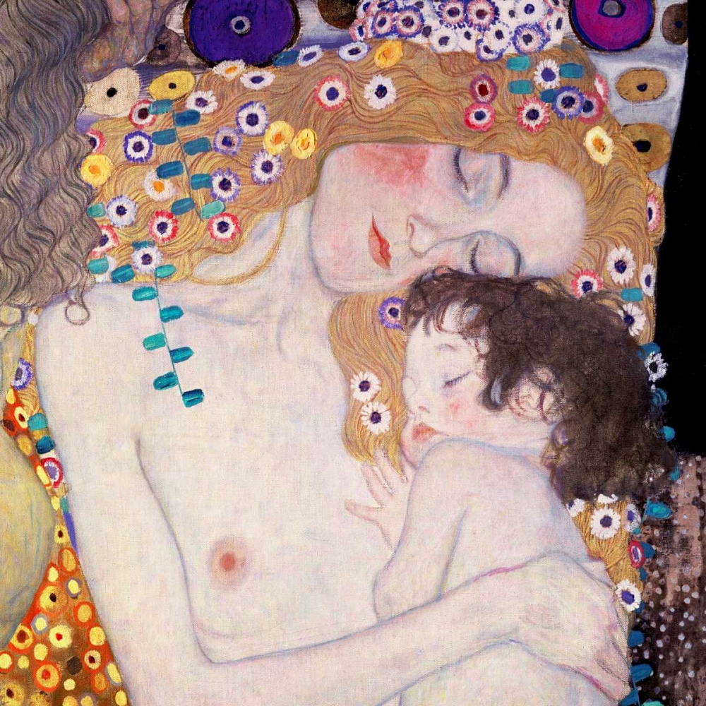 konfigurieren des Kunstdrucks in Wunschgröße Le Tre eta della donna von Klimt, Gustav
