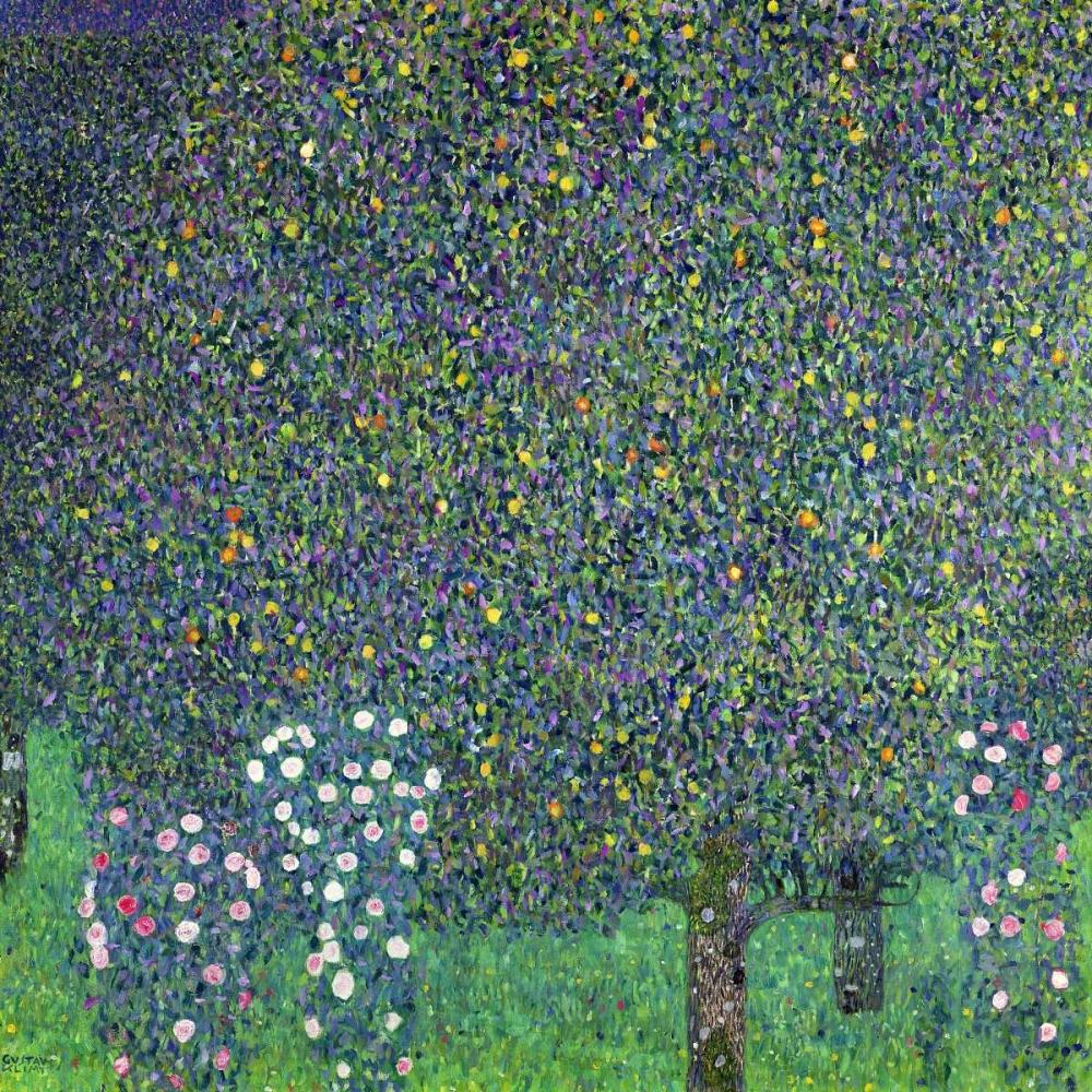 konfigurieren des Kunstdrucks in Wunschgröße Roses under the Trees von Klimt, Gustav