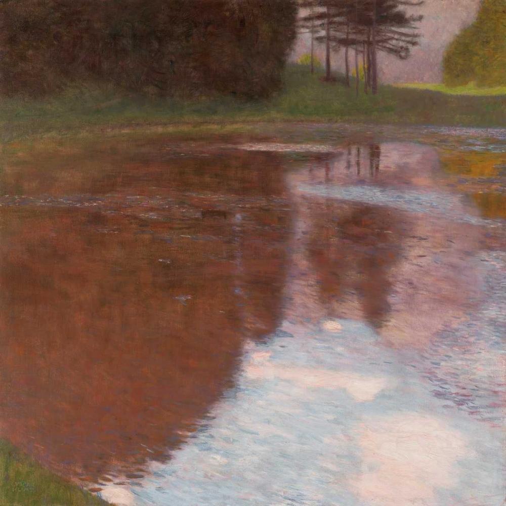 konfigurieren des Kunstdrucks in Wunschgröße Tranquil pond near Salzburg von Klimt, Gustav