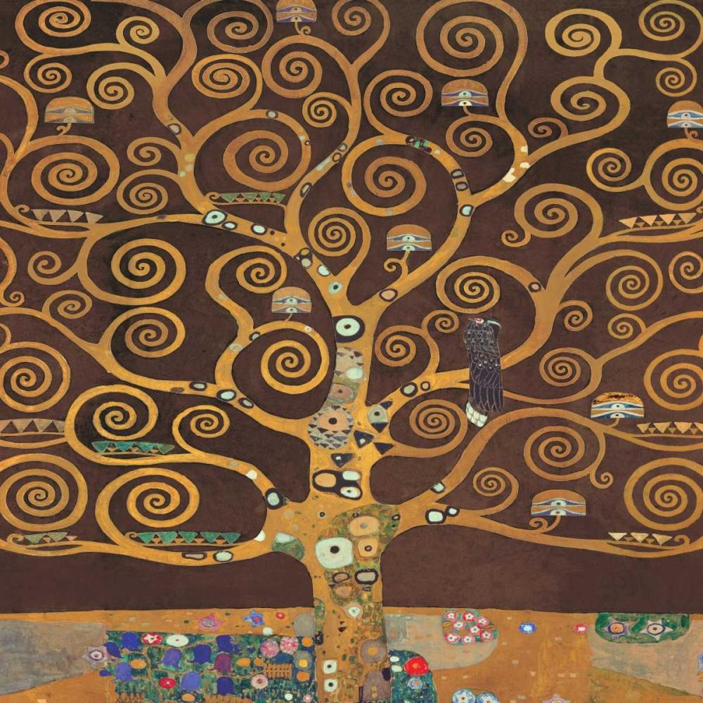 konfigurieren des Kunstdrucks in Wunschgröße Tree of Life-Brown II von Klimt, Gustav
